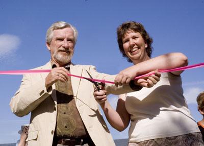 Doug Owram, UBC Okanagan's Deputy Vice Chancellor, and Michelle Rule, Kelowna Councillor, officially opened the new Learning Garden at UBC Okanagan May 31.
