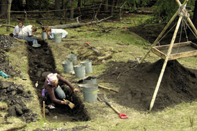 Hundreds of ancient earth ovens used by First Nations dot traditional root gathering grounds