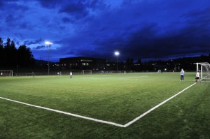 Nonis Sports Field has full-field lighting for night use. (Credit: Rob Brown)