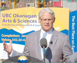Premier Gordon Campbell kicked-off construction today for the home of the Southern Medical Program, which will train doctors in the Okanagan for the first time in B.C. history.
