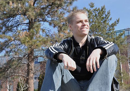 Arts student Daniel McMann hopes to go to law school after receiving his degree in June.