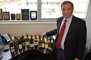Ian Stuart, professor of supply chain management with the Faculty of Management, is working with the Okanagan Valley's wine industry.