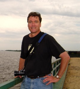 Genocide scholar Adam Jones by the Volga River in Kazan, Russia.