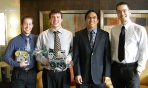 Senior Design team, from left: Gordon Ross, Eric Baikie, Ska-Hiish Manuel, Devyn Farr