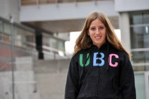Sabrina Tikhomiroff, a second-year Bachelor of Management student from Brazil, says she loves her on-campus job as a mentor to first-year students at UBC's Okanagan campus.