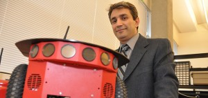 Assistant Prof. Homayoun Najjaran's service robots could save municipalities millions of dollars - Photo by Jody Jacob