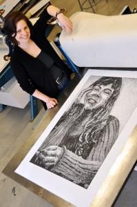 Printmaker Laura Widmer