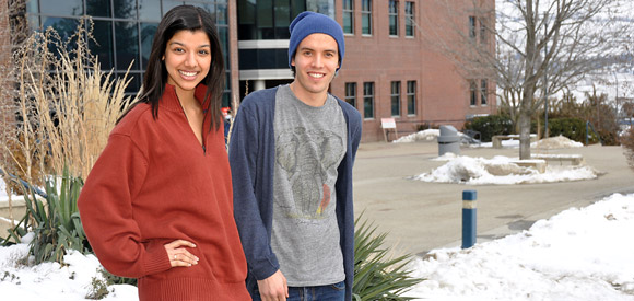 UBC students Neetu Garcha, left, and Odd Gleditsch are heading to a global conference focused on fighting hunger.