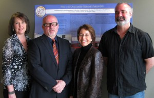 UBC cultural safety researchers include, from left, professors Rachelle Hole, Lawrence Berg, Joan Bottorff and Mike Evans.