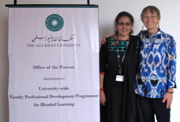 Susan Crichton, associate professor and director of graduate studies with the Faculty of Education at the University of British Columbia's Okanagan campus, poses for a picture while in Karachi, Pakistan, where she co-facilitated a professional development program.