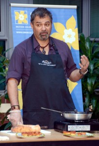 Ricardo Scebba from Ricardo's Mediterranean Kitchen was at the University of British Columbia's Okanagan campus to give some tips on healthy eating.