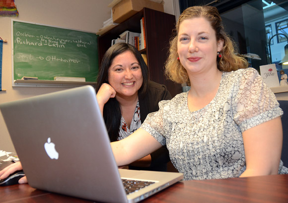 French and Spanish major Jace Ma, left, and Assistant Professor of Anthropology Christine Schreyer have gone online to help resurrect disappearing languages.