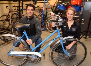 Meshkat Javid and Jane Hollenberg are looking for bike donations for the UBCycles program. The program allows students, staff and faculty at the University of British Columbia's Okanagan campus to borrow a bike for a few days or an entire term, but donated bikes are needed.