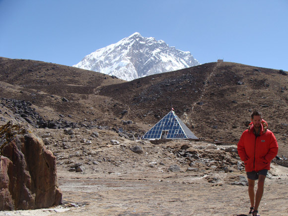 Canada Research Chair Philip Ainslie is seen outside the Pyramid Laboratory on a previous research mission to Everest Base Camp. (Everest photos contributed)