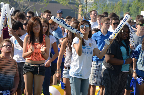 UBC's Okanagan campus was a whirlwind of people and activity during student orientation events last year.