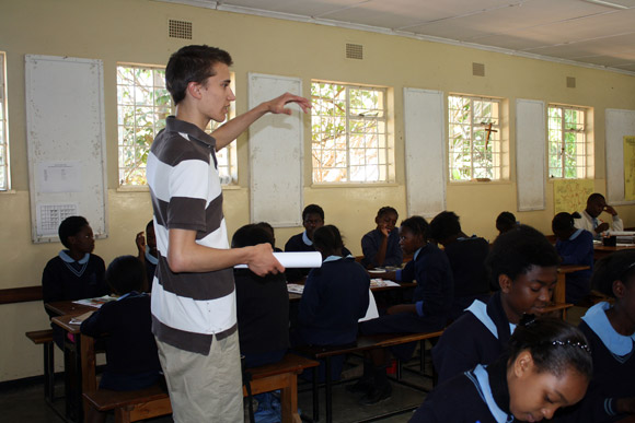 Tim Krupa conducts his research survey at one of the best schools in the country, an urban Catholic girls' school in Zambia's capital city, Lusaka.