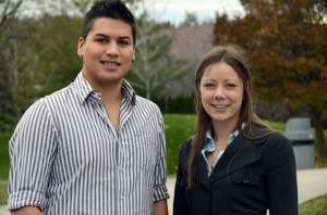UBC students Andrew Vergara and Irene Gonneau