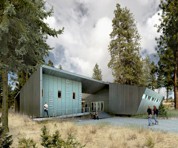 An artist's concept of the dining hall at the South Okanagan field school