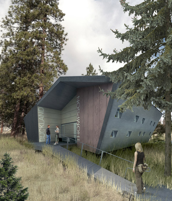 An artist's concept of a dormitory at the South Okanagan field school