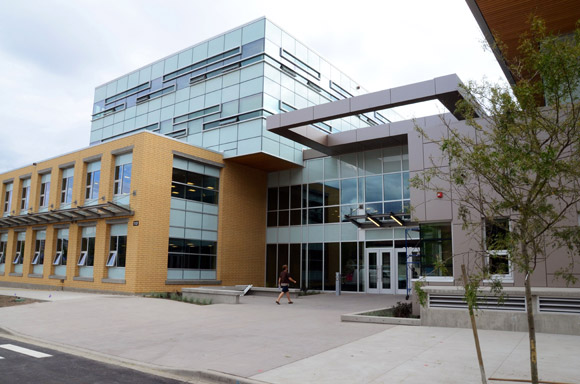 At 186,000 square feet and built at a cost of $68-million, the Engineering, Management and Education Building is the largest academic building on UBC's Okanagan campus.