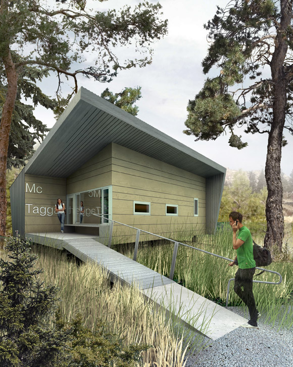 An artist's concept of faculty offices at the South Okanagan field school
