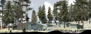An artist's concept of the award-winning design of the South Okanagan field school