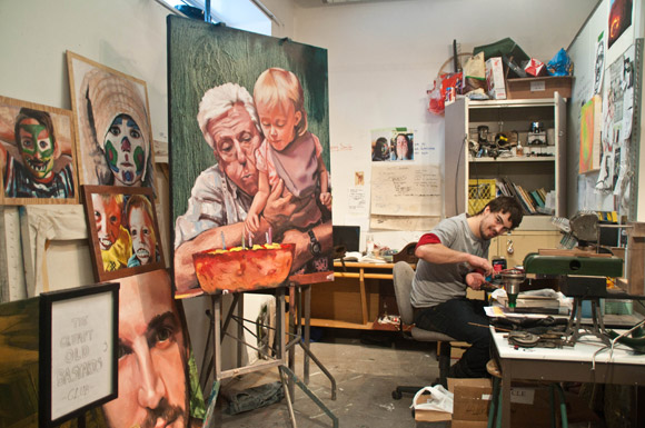 Dylan Ranney prepares for year-end BFA Graduation Exhibit