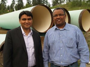 Rehan Sadiq and Solomon Tesfamariam, engineering professors at UBC's Okanagan campus, have developed a risk-assessment program that can help predict when underground water pipelines may fail.