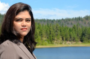 UBC PhD candidate Nilufar Islam, pictured at Kelowna's McKinley Reservoir, is studying the concept of booster chlorination along water distribution networks in a way to get clean water into every home in BC.