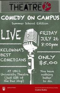 Live comedy show coming to campus Friday night at UBC Theatre