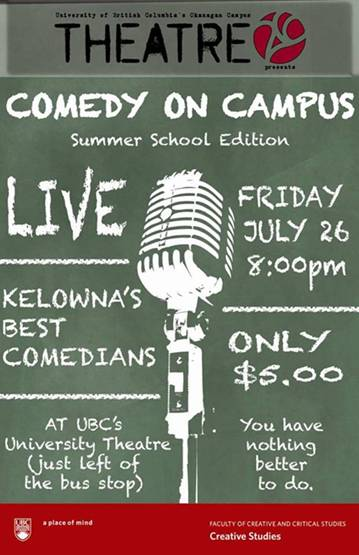 Comedy on Campus: Summer School Edition
