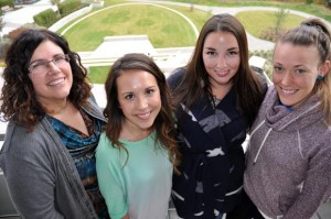 Associate Professor of Nursing Muriel Kranabetter, with fourth-year nursing students Samantha Waller, Sarah Duddle and Caitlyn Robertson are raising funds to build a nursing clinic in Chanshegu, Ghana.