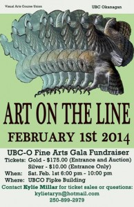 UBC's popular Art on the Line gala set for February 1, 2014