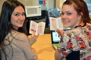 Darien Miyata and Caitlan Stephens, fourth-year nursing students at UBC's Okanagan School of Nursing, have revised and printed a handbook that will be given to nurses who work in rural outpost health clinics in Africa. A contingent of nursing students from UBC will travel to Ghana, Zambia, and India this spring.