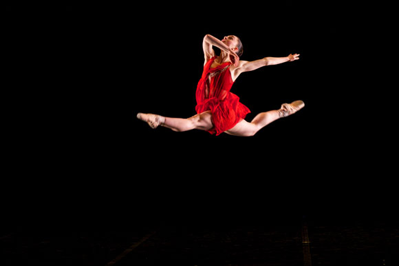 Clare Bassett in Ballet Kelowna's I Remember You. Photo credit: Glenna Turnbull Photography