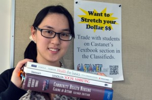 VOICE team financial coordinator Jackie Leung is helping students create an online used book exchange with Castanet. The VOICE team supports student and non-student projects that are relevant to the campus community through use of action research methods.