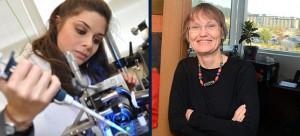 Mina Hoorfar, associate professor of engineering, and Susan Crichton, associate professor of education