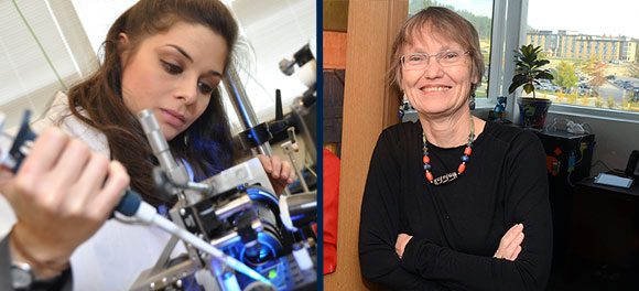 Mina Hoorfar, associate professor of engineering, and Susan Crichton, associate professor of education