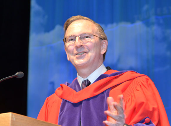 Nobel Laureate Jack Szostak addresses UBC graduates