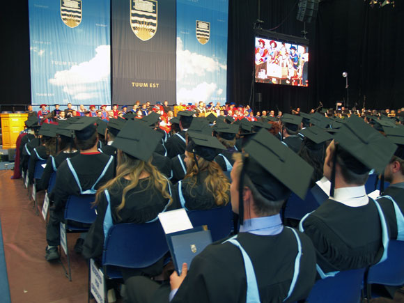 Graduates at the 2013 UBC Convocation ceremony.