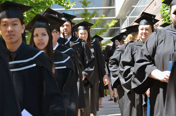 UBC's 2014 Convocation saw 1,585 degrees conferred over two days of graduation ceremonies.