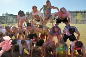 Colour Run at Create -- New Student Orientation