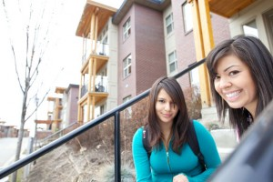 The population of self-identified Aboriginal students at UBC's Okanagan campus has increased by 470 per cent since UBC's Okanagan campus was established in 2005. One-time UBC students Kat Street, left, and Amanda Williams are seen at student residences in this UBC file photo.