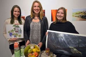 Students Ardanna Semeschuk, who designed the Dig Your Neighbourhood Mission logo, Chelsea Robinson, who is writing a cookbook featuring neighbourhood recipes, and Jessica Dennis, who has designed a series of artworks about Mission, are among students whose works will comprise the Dig Your Neighbourhood Mission project.