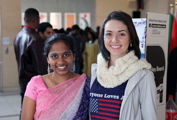Krishna Kambhampati, representing Singapore/India, and Karlee Friesen, San Diego, California, were part of Global Fest 2013.