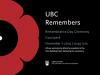 UBC Remembers 2014 graphic