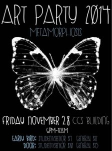 UBC students to stage Art Party 2014: Metamorphosis on Nov. 28