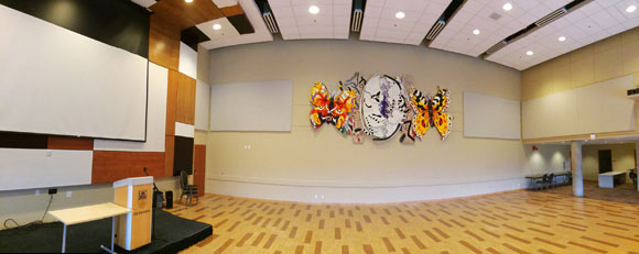 The UNC Ballroom from a wide-angle view.