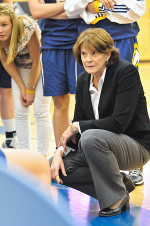 Heather Semeniuk has coached UBC Okanagan's Heat women's basketball team for the past 21 years.  Photo credit: Steve Shulhan