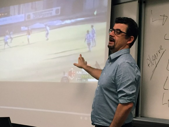 UBC Okanagan Associate Professor Luis LM Aguiar uses a variety of media sources to teach about the sociology of Cristiano Ronaldo. The soccer super star is the subject of a new fourth-year course offered at UBC.